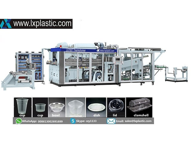 LX3122 HF-IM-C 2in1/3in1/4in1 thermoforming machine
