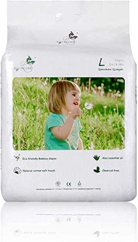 ECO BOOM Bamboo Biodegradable diapers eco friendly for Baby Super Soft Organic Size 4 L 70 Count Pack